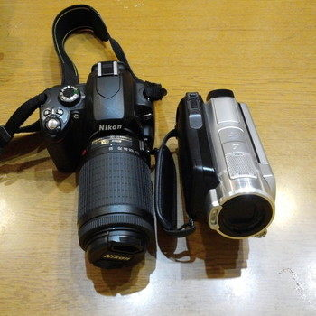 ビデオとカメラ